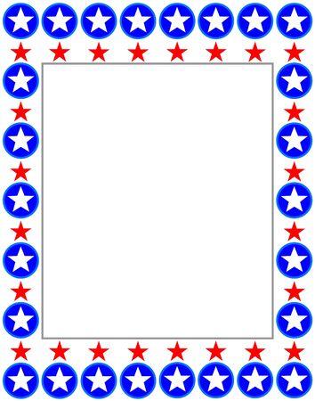 United States flag for decorate brochures, books, magazines. Ilustração