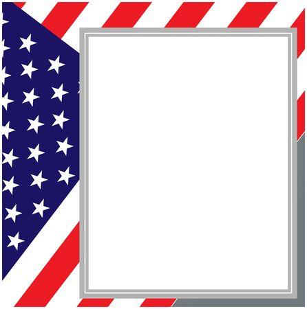 United states flag card poster Ilustração