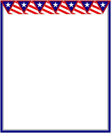 United States flag decorative banner frame card Ilustração