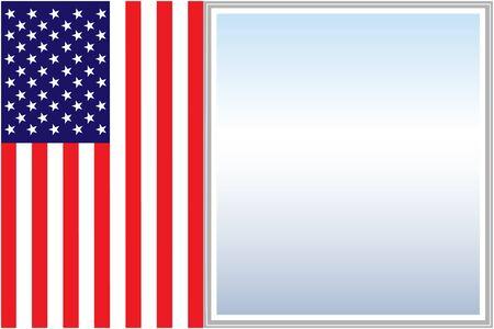 United States flag frame poster