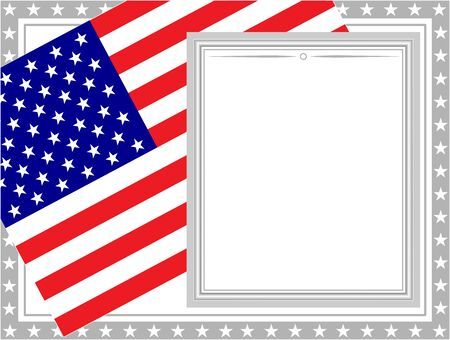 United States flag card frame