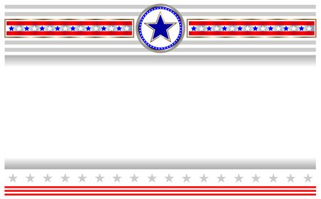 American flag banner with copy space for your text and images. Ilustração