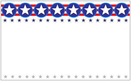 US flag star frame banner with copy space for your text and images.