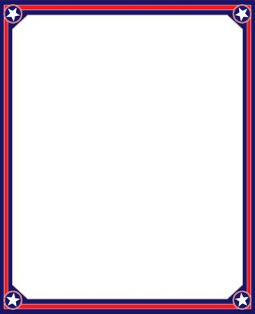 American flag frame with empty space. 向量圖像