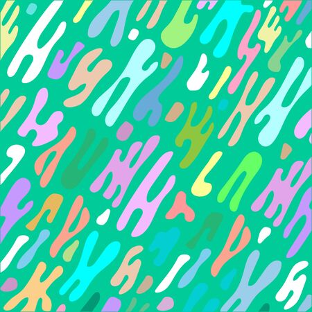 Multi-colored abstract shape fluid background.