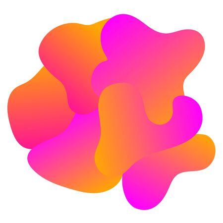Abstract purple orange fluid blobs art design background logo
