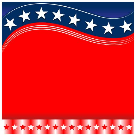 USA flag symbolism background template with a clean red space for your text. Ilustrace