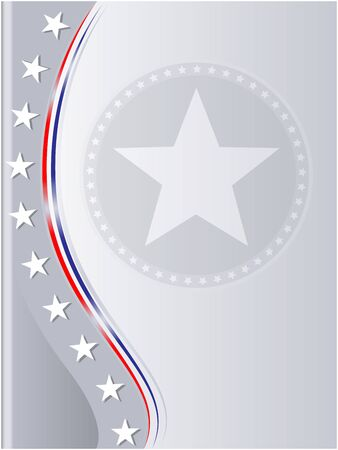 Abstract gray background card frame with American flag symbols. Ilustrace