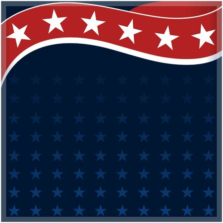 Abstract American flag wave pattern background with copy space for your text.