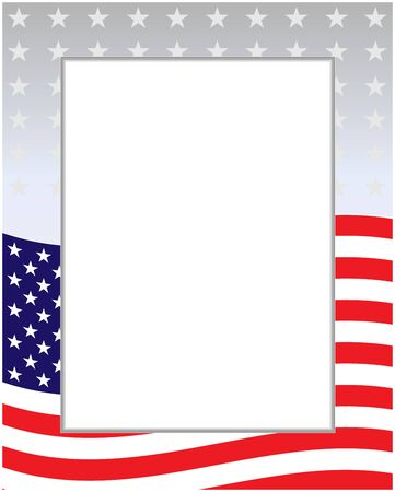 USA flag background frame with copy space for your text.