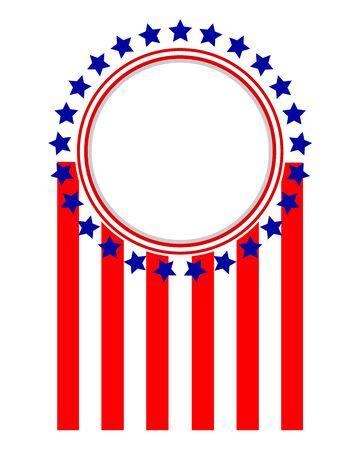 American flag symbols sign logo emblem frame 일러스트