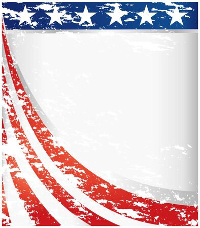 USA flag retro background frame with copy space for your text.