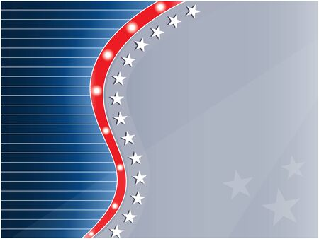USA flag decorative frame background with empty space for your text.