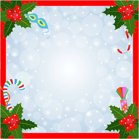 Christmas card frame background with copy space for your text. 일러스트