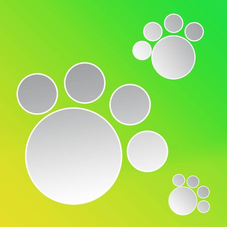 Cover design template with abstract paws with empty space for text. 스톡 콘텐츠