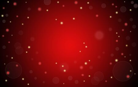 Abstract Christmas red glowing background with copy space for your text.