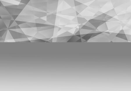 Polygonal fractal gray background with copy space for your text.