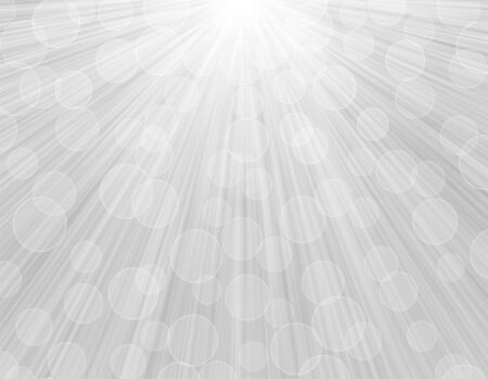White gray radiant sparkle sunny background with bokeh. 스톡 콘텐츠
