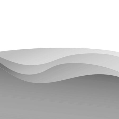 Abstract gray white wave pattern line art design template background frame with empty space for your text.