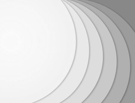 Abstract modern gray white wave pattern background frame with empty space for your text.