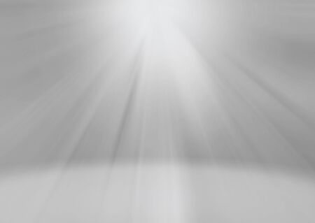 Glowing gray white rays with light reflection background with copy space for your text.
