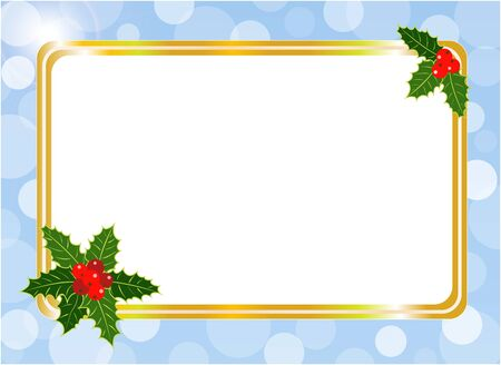 Christmas card frame design template with blank space for your text.