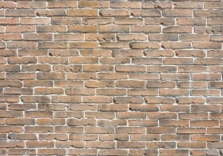 Yellow gray old brick wall texture background banner with clean space for your design.