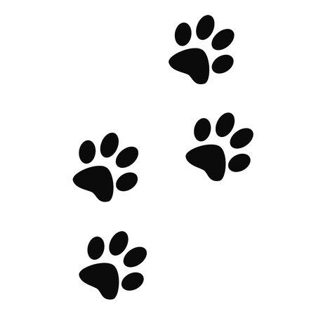 Animal paw prints footprints track icon 스톡 콘텐츠