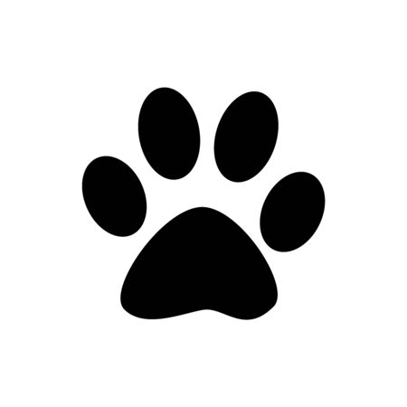 Paw print icon isolated