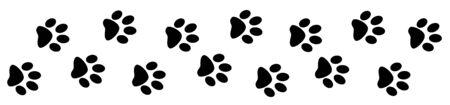 Paw prints dog track banner design template 스톡 콘텐츠