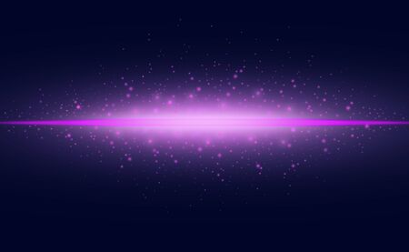 Abstract light effect purple glowing line on dark background.