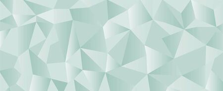 Green polygonal triangles geometric banner background.