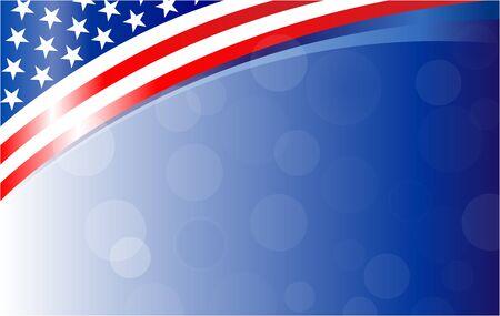 American flag background frame banner  イラスト・ベクター素材