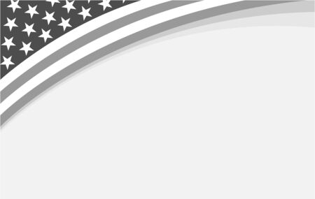 Abstract American flag corner frame banner with empty space for your text.
