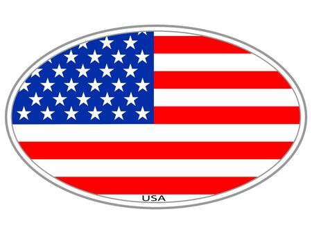 USA flag icon symbol sign badge
