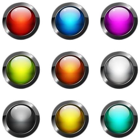 glossy buttons: Collezione di bottoni lucidi