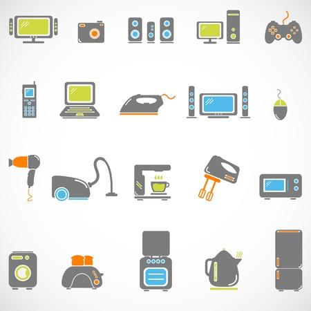 home appliance: Home appliances icon set