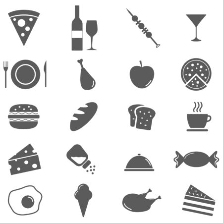 apple slice: Set of food icons.