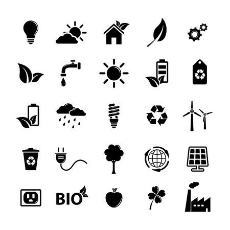 house energy: Ecology icons set