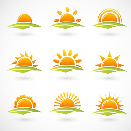 sun light: Sunset icons
