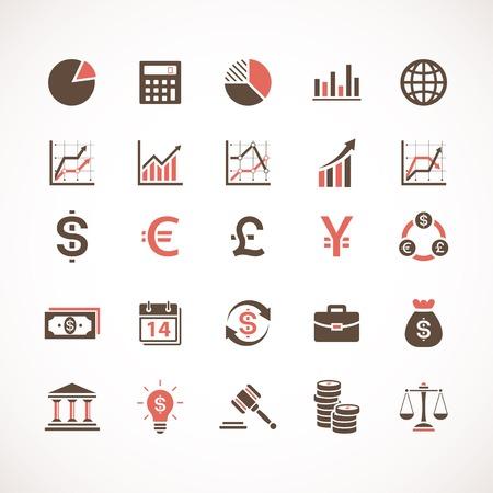 Negocios y finanzas iconos