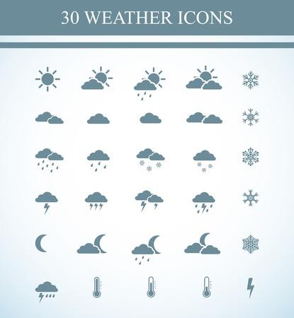 meteo: Weather icons Illustration