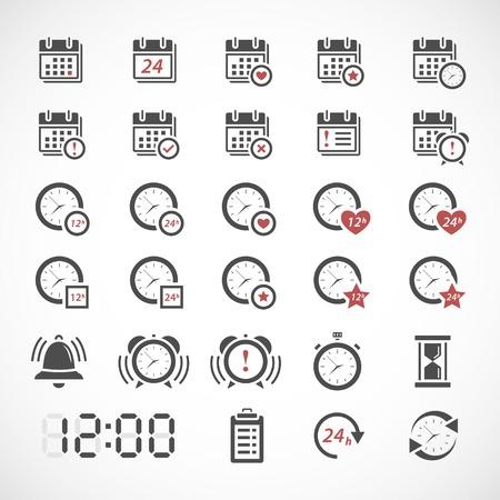 Time icons set  イラスト・ベクター素材