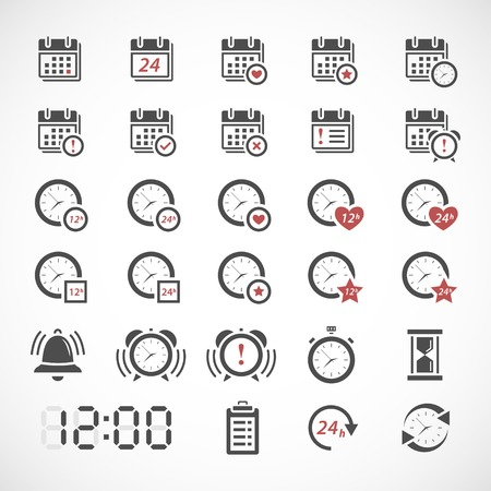 Time icons set Vettoriali