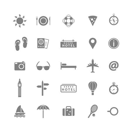 holiday icons: Summer holiday icons