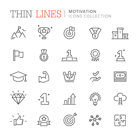 Collection of motivation icons