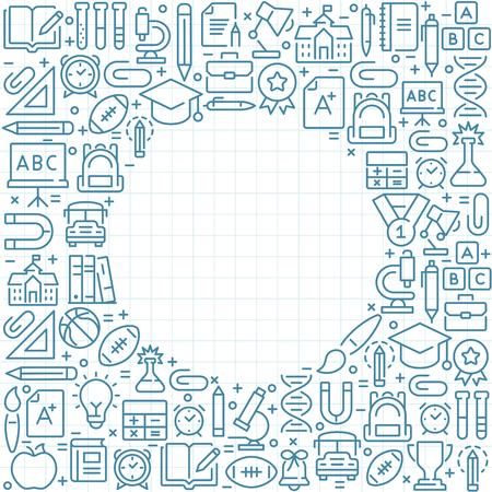 Back To School vector background Illustration