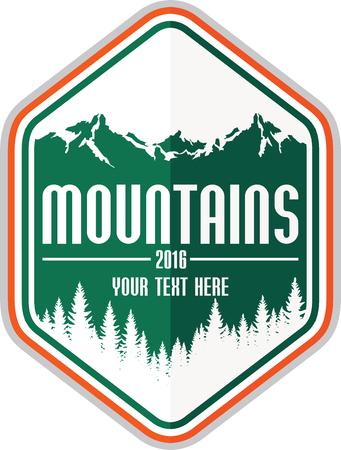 team sports: Vector Montañas del emblema Vectores