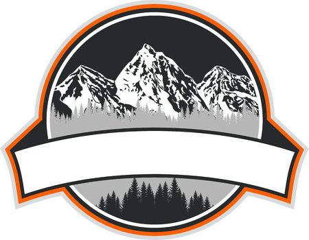 Mountains Emblem 版權商用圖片 - 55962423