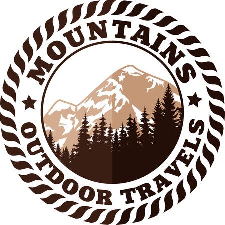 Montagnes emblème Banque d'images - 55962421